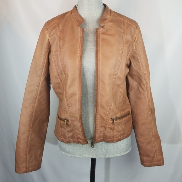 f4003f519 Therapy faux Leather Jacket NWT